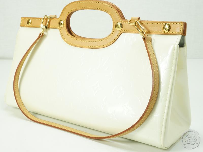 Authentic Pre Owned Louis Vuitton Lv Vernis Perle Roxbury Drive Bag W Strap M91374