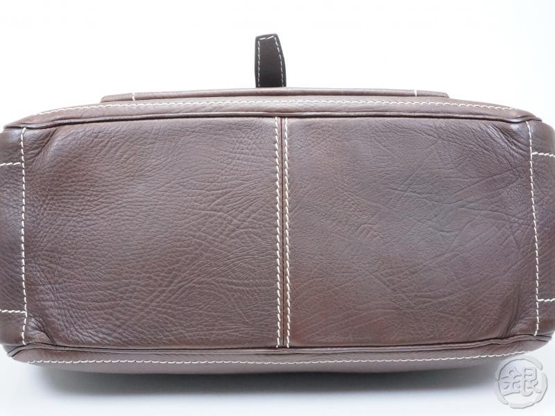Authentic Pre Owned Celine Dark Brown Leather Boogie Hand Bag CE00 ...