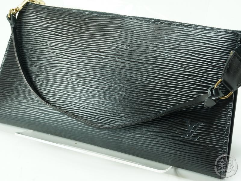 AUTHENTIC PRE-OWNED LOUIS VUITTON EPI BLACK POCHETTE ACCESSOIRES POUCH BAG  M52942   GINZA-JAPAN Online Shop 06f9161eee