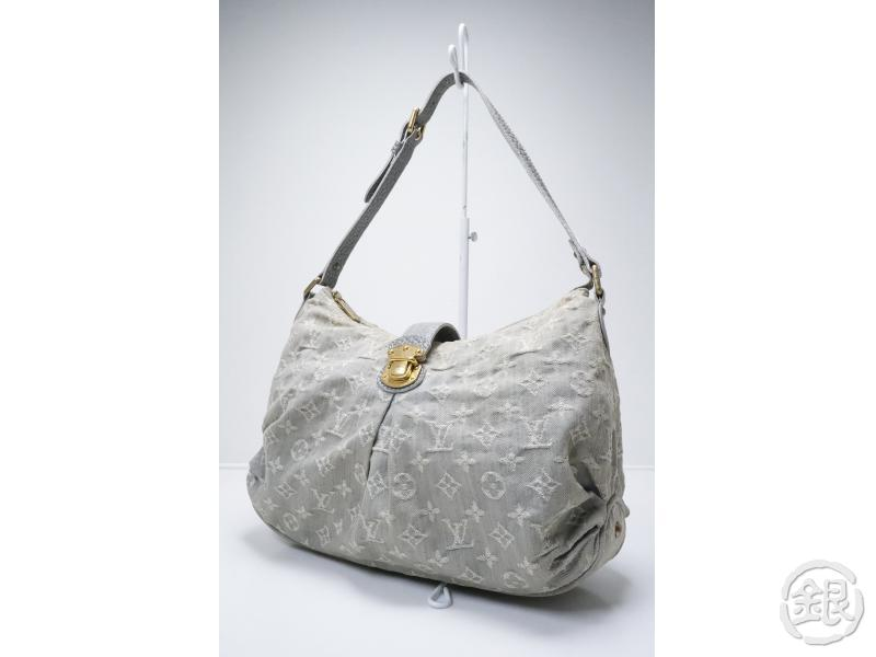54d553ad5db0 AUTHENTIC PRE-OWNED LOUIS VUITTON MONOGRAM DENIM GRIS SLIGHTLY SHOULDER BAG  HOBO BAG M95834