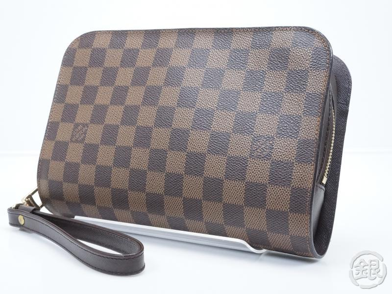 AUTHENTIC PRE-OWNED LOUIS VUITTON SPECIAL ORDERED DAMIER EBENE POCHETTE  ORSAY CLUTCH BAG 1eafc943b8a2c