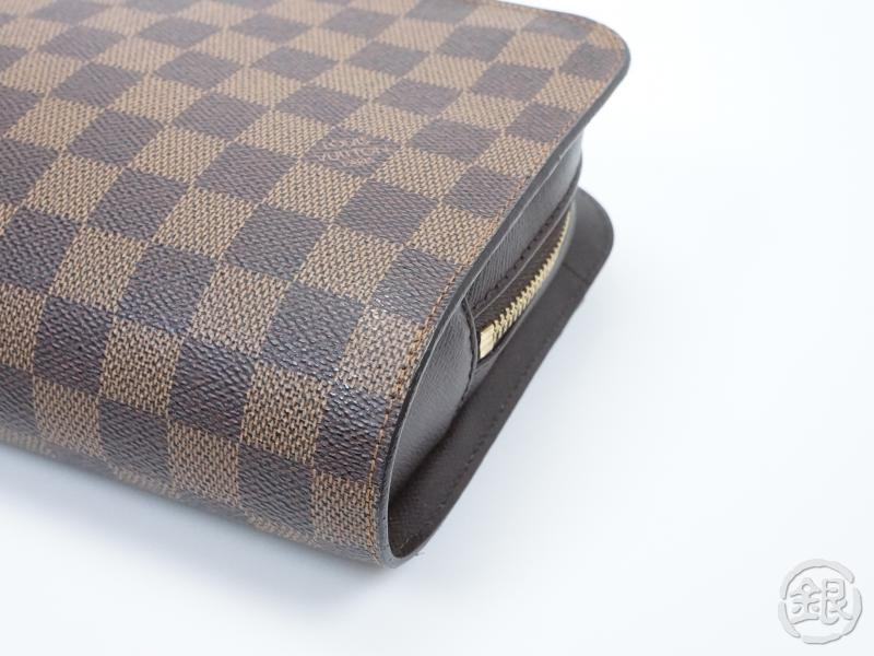 AUTHENTIC PRE-OWNED LOUIS VUITTON SPECIAL ORDERED DAMIER EBENE POCHETTE  ORSAY CLUTCH BAG 151542  7107ed0edd64a