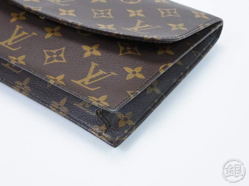 3a8796311c03 AUTHENTIC PRE-OWNED LOUIS VUITTON MONOGRAM POCHETTE RABAT CLUTCH BAG PURSE  M51940 152874