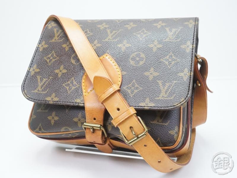 AUTHENTIC PRE-OWNED LOUIS VUITTON LV VINTAGE MONOGRAM CARTOUCHIERE MM  CROSSBODY MESSENGER BAG M51253 cfd4533246ce7