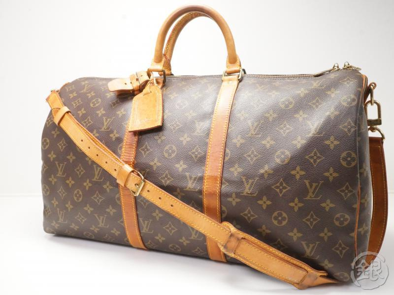 AUTHENTIC PRE-OWNED LOUIS VUITTON MONOGRAM VINTAGE KEEPALL BANDOULIERE 50  TRAVELING DUFFLE BAG w  SHOULDER STRAP M41416 6b9bfde2900e5