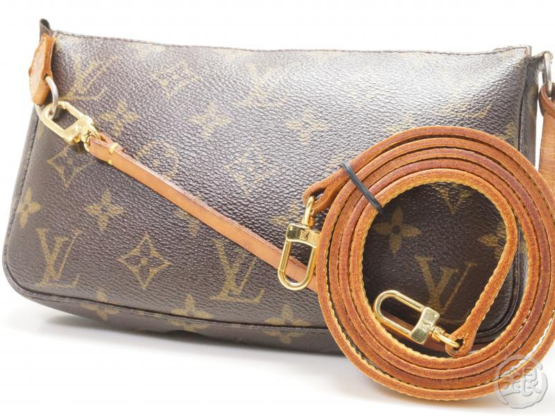 d629ffba3493 AUTHENTIC PRE-OWNED LOUIS VUITTON MONOGRAM POCHETTE ACCESSOIRES POUCH w   Long Strap HAND BAG   MESSENGER BAG 2-WAY M51980