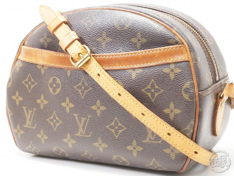 7c2fe733c9d AUTHENTIC PRE-OWNED LOUIS VUITTON LV MONOGRAM BLOIS CROSSBODY MESSENGER BAG  PURSE M51221