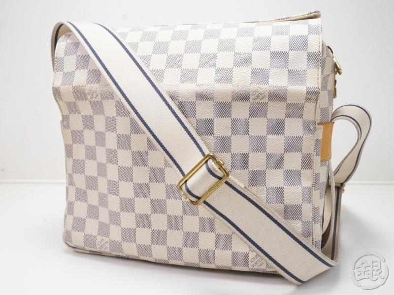 af6929334746 AUTHENTIC PRE-OWNED LOUIS VUITTON DAMIER AZUR NAVIGLIO MESSENGER CROSSBODY  BAG N51189