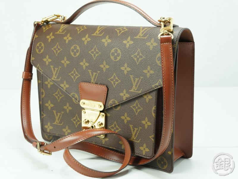 2e4ecd86ec3c AUTHENTIC PRE-OWNED LOUIS VUITTON MONOGRAM MONCEAU HAND BAG PURSE w  Strap  M51185