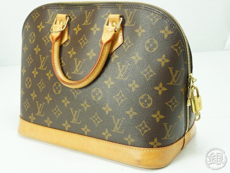 Authentic Pre Owned Louis Vuitton Lv Monogram Alma Hand Tote Bag Purse M51130