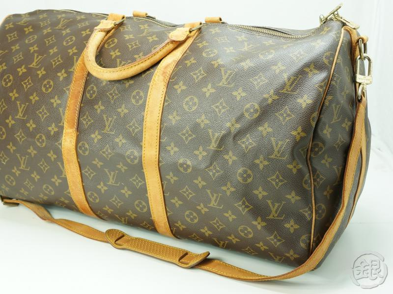 03b08e417a4e AUTHENTIC PRE-OWNED LOUIS VUITTON KEEPALL BANDOULIERE 55 LARGE TRAVEL BAG  w  STRAP M41414