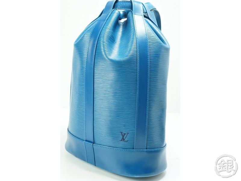 e6d4f408960c AUTHENTIC PRE-OWNED LOUIS VUITTON EPI BLUE RANDONNEE PM SHOULDER BACKPACK  BAG