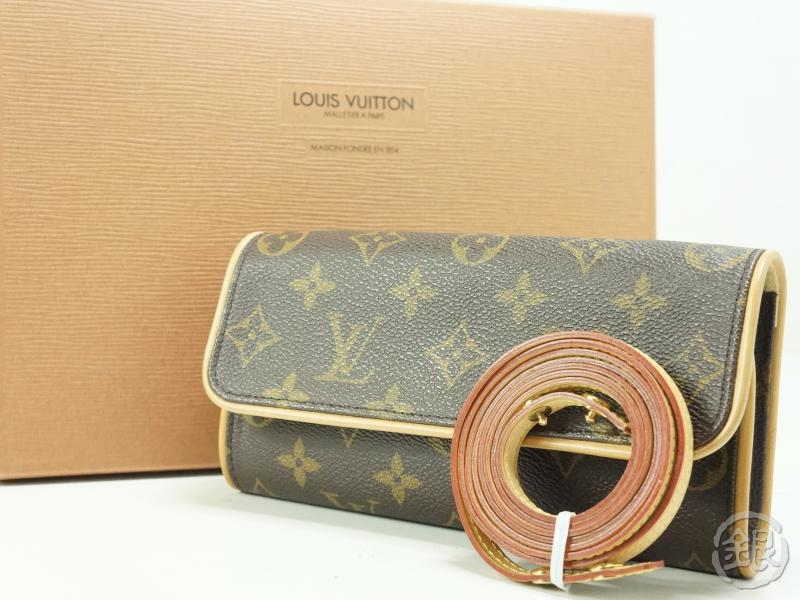 2e3b5c8c1be1 AUTHENTIC PRE-OWNED LOUIS VUITTON MONOGRAM POCHETTE TWIN PM 2-WAY CLUTCH  SHOULDER BAG M51854