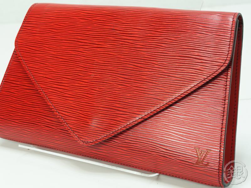 04296ed12fa17 AUTHENTIC PRE-OWNED LOUIS VUITTON LV EPI ROUGE POCHETTE ARTS-DECO GM CLUTCH  BAG M52637 132926 | GINZA-JAPAN Online Shop