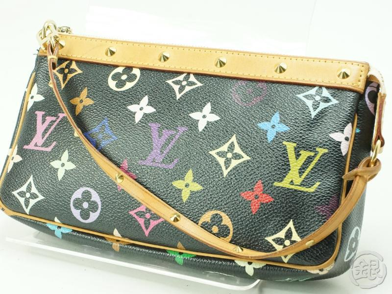 Authentic Pre Owned Louis Vuitton Monogram Multi Color Black Pochette Accessoires Bag M92648