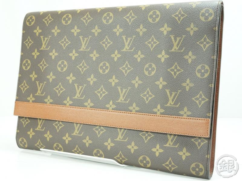Louis Vuitton Made In France >> AUTHENTIC PRE-OWNED LOUIS VUITTON MONOGRAM POCHETTE ENVELOPPE DOCUMENT CASE BAG M51801 | GINZA ...