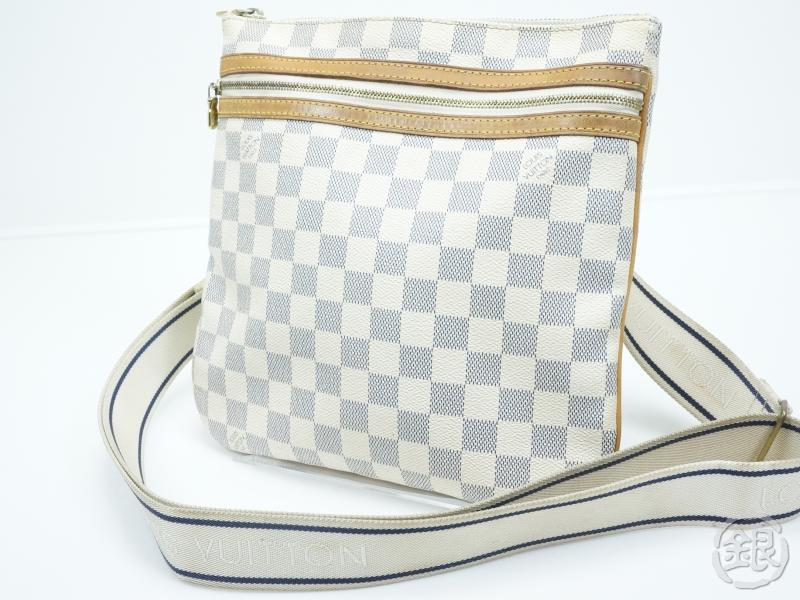 c101860cb9 AUTHENTIC PRE-OWNED LOUIS VUITTON DAMIER AZUR POCHETTE BOSPHORE CROSSBODY  BAG N51112