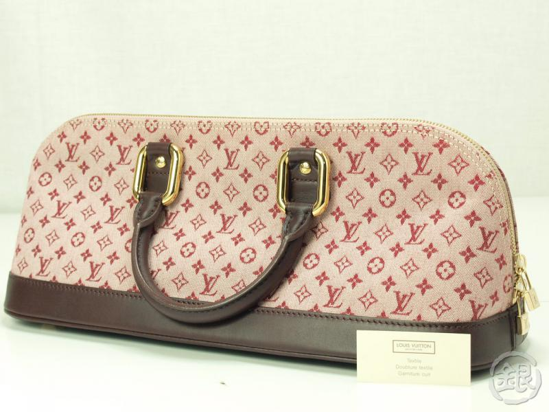 AUTHENTIC PRE-OWNED LOUIS VUITTON LV MONOGRAM MINI PINK ALMA LONG HAND TOTE  BAG M92207 744d1bb6d347c