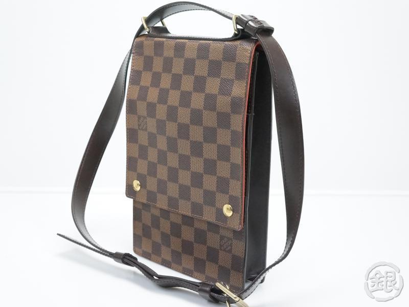 55e02406eba8 AUTHENTIC PRE-OWNED LOUIS VUITTON DAMIER PORTOBELLO CROSSBODY SHOULDER BAG  N45271