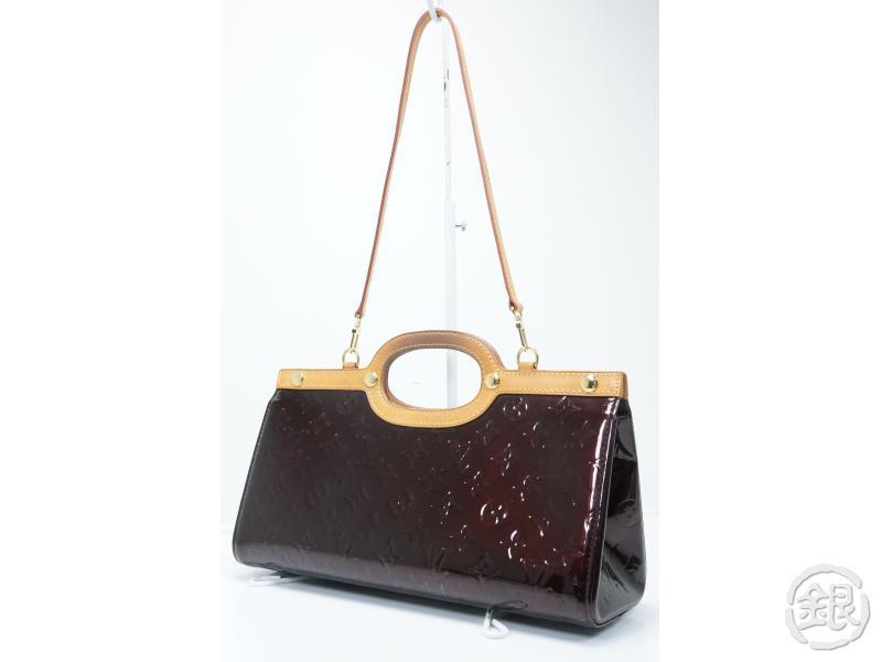 Authentic Pre Owned Louis Vuitton Lv Vernis Amarante Roxbury Drive Shoulder Hand Bag W Strap M91995
