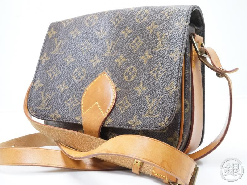 AUTHENTIC PRE-OWNED LOUIS VUITTON LV VINTAGE MONOGRAM CARTOUCHIERE MM  CROSSBODY SHOULDER BAG M51253 46fd09fdbf6ae