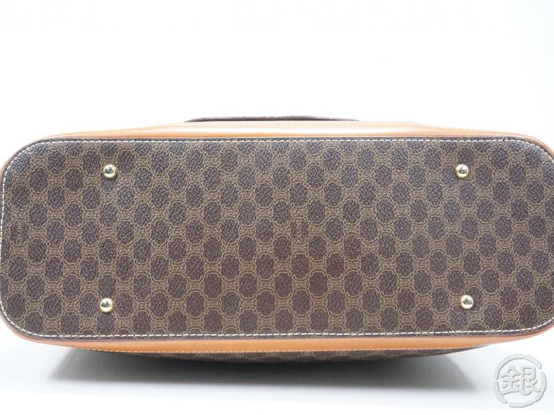 c1debefbf13 AUTHENTIC PRE-OWNED CELINE LOGO MACADAM BROWN HAND TOTE BAG PURSE ITALY MC98  1 151136   GINZA-JAPAN Online Shop