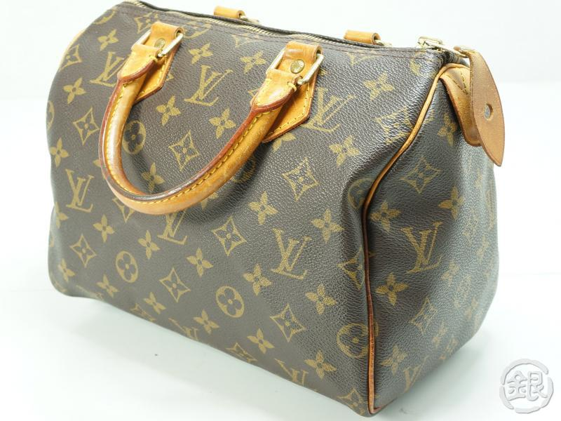 d0a7b0cca74d AUTHENTIC PRE-OWNED LOUIS VUITTON SPEEDY 25 MONOGRAM BOSTON HAND BAG PURSE  M41528