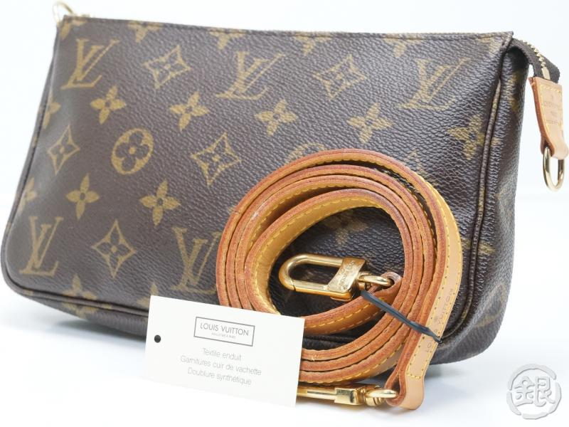5663418915c0 AUTHENTIC PRE-OWNED LOUIS VUITTON MONOGRAM POCHETTE ACCESSOIRES BAG w  Long  Strap M51980