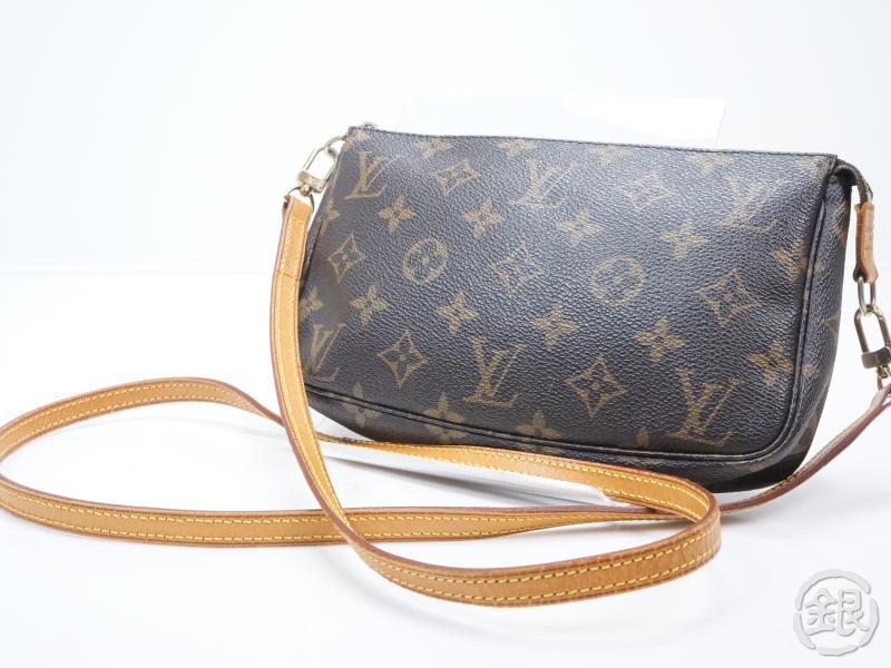 Authentic Pre Owned Louis Vuitton Monogram Pochette Accessoires Bag W Long Strap M51980