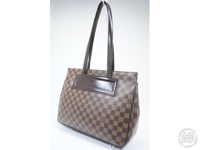 AUTHENTIC PRE-OWNED LOUIS VUITTON LV DAMIER EBENE PARIOLI PM SHOULDER TOTE  BAG N51123 9001659653693