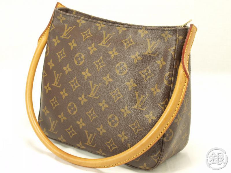 Authentic Louis Vuitton Monogram Looping Mm Shoulder Bag Purse