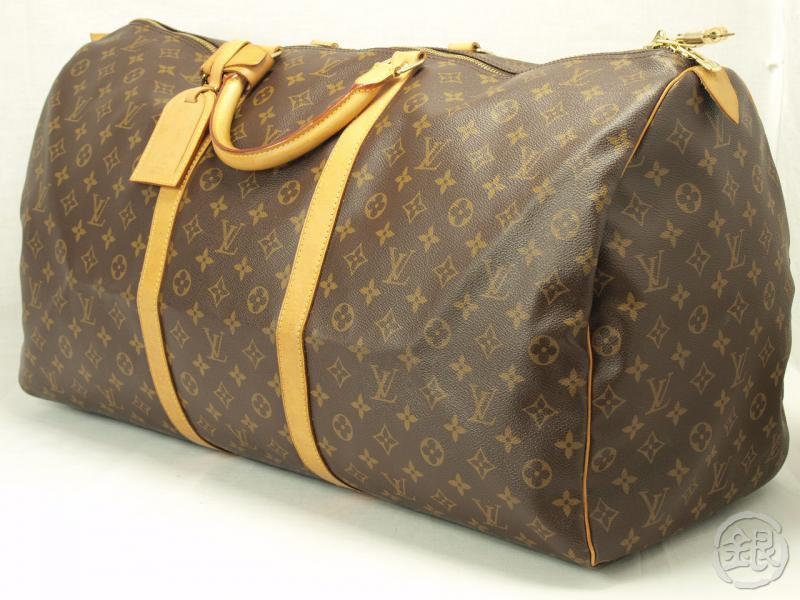 2755928c504a AUTHENTIC LOUIS VUITTON MONOGRAM KEEPALL 60 TRAVEL BAG 111061 ...