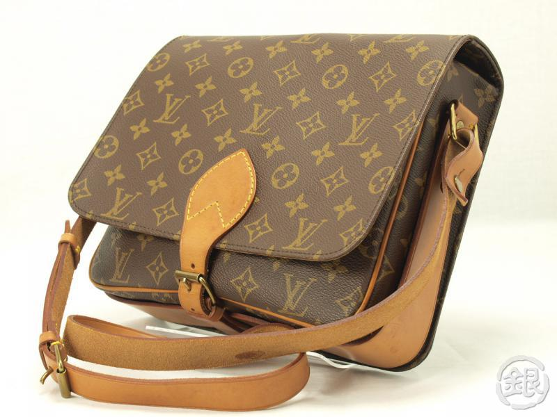 AUTHENTIC LOUIS VUITTON MONOGRAM CARTOUCHIERE GM SHOULDER BAG 110711 ... ca19ae91169d2