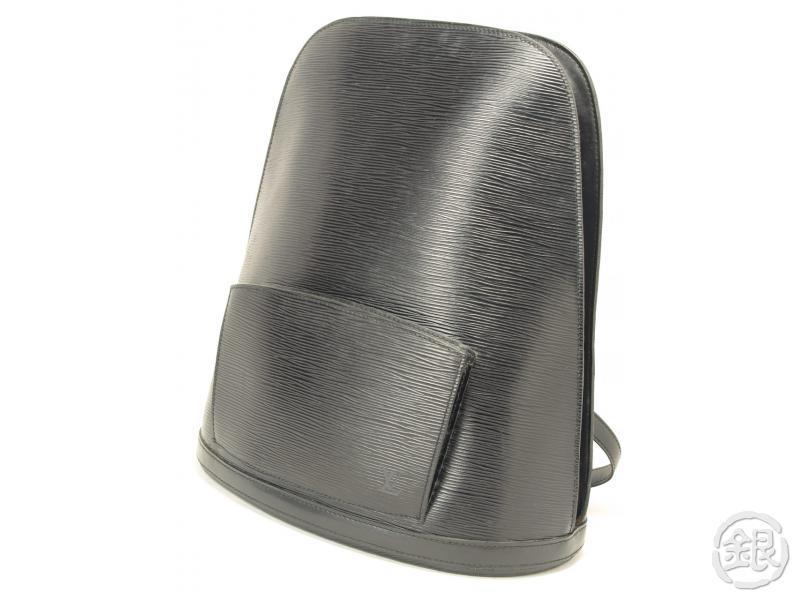 d3508a6bf1f0 AUTHENTIC LOUIS VUITTON BLACK EPI GOBELINS BACKPACK BAG 110925 ...