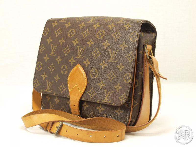AUTHENTIC LOUIS VUITTON MONOGRAM CARTOUCHIERE GM SHOULDER BAG 110885 ... dd84403aef41d