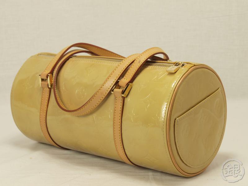 8a0487eb96b0a AUTHENTIC LOUIS VUITTON VERNIS BEIGE BEDFORD HAND BAG PURSE 110990 ...