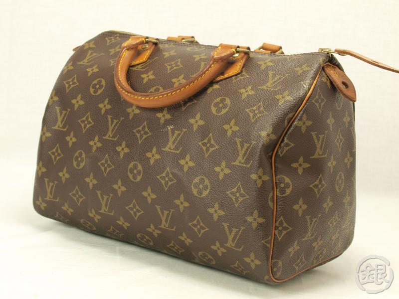 97bb1947696a AUTHENTIC LOUIS VUITTON SPEEDY 30 MONOGRAM BAG PURSE 111142
