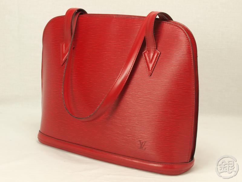 Louis Vuitton Reporter Shoulder Bag 329676 Collector Square. Authentic Louis  Vuitton Epi Rouge Lussac Ping Shoulder Bag 47bde3729c