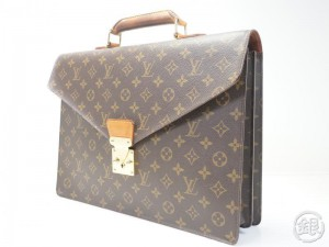 AUTHENTIC PRE-OWNED LOUIS VUITTON MONOGRAM SERVIETTE CONSEILLER BRIEFCASE  SATCHEL BAG PURSE M53331 162394 205957a10adea