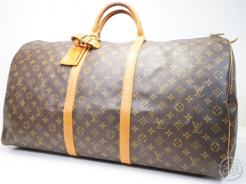 AUTHENTIC PRE-OWNED LOUIS VUITTON LV MONOGRAM KEEPALL 60 LARGE TRAVELING  DUFFLE BAG M41422 01933c55dae0b