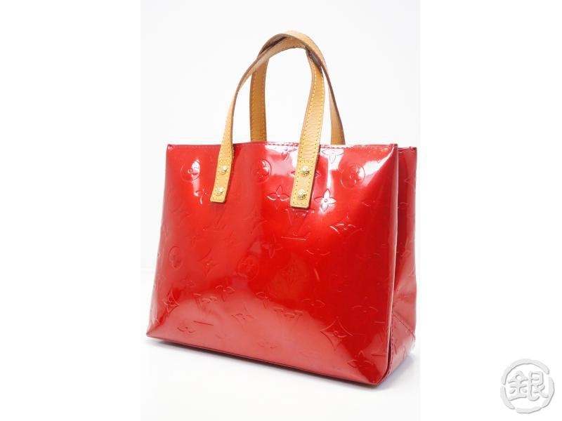 7791058ea AUTHENTIC PRE-OWNED LOUIS VUITTON VERNIS POMME D'AMOUR RED READE PM HAND  TOTE BAG M91990