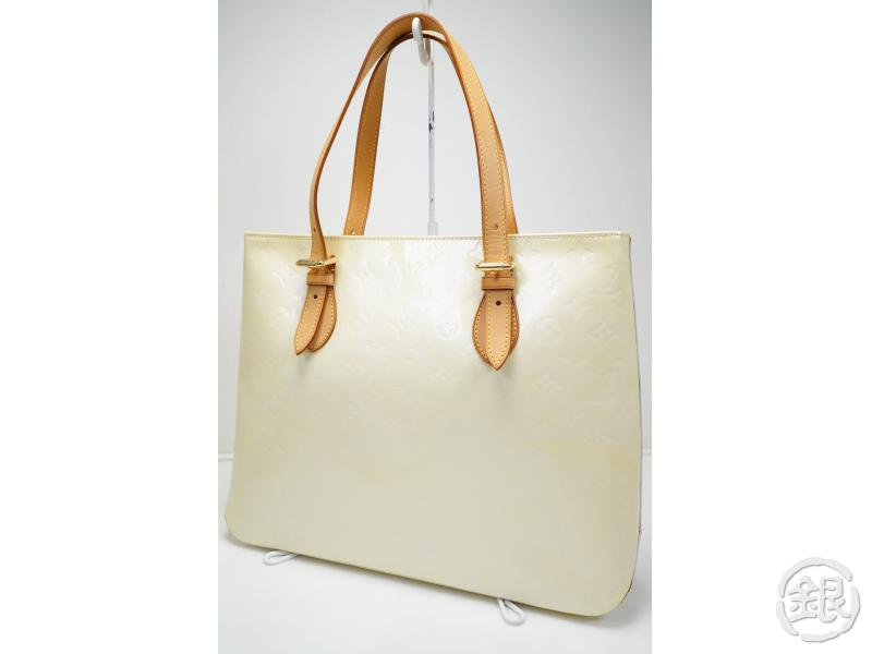 96e7d4946f90 AUTHENTIC PRE-OWNED LOUIS VUITTON VERNIS PERLE BRENTWOOD SHOULDER TOTE BAG  M91512