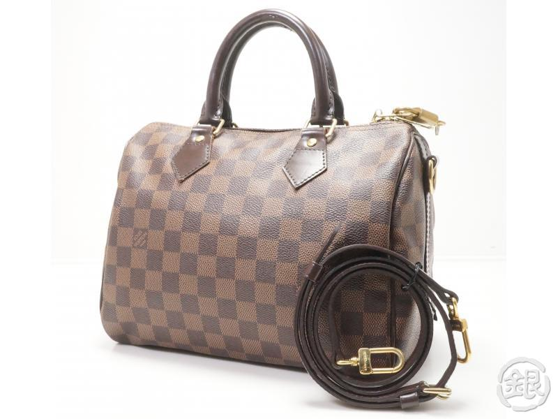 172ffe1b619d AUTHENTIC PRE-OWNED LOUIS VUITTON DAMIER EBENE SPEEDY 25 BANDOULIERE HAND  BAG MESSENGER BAG 2-WAY N41368
