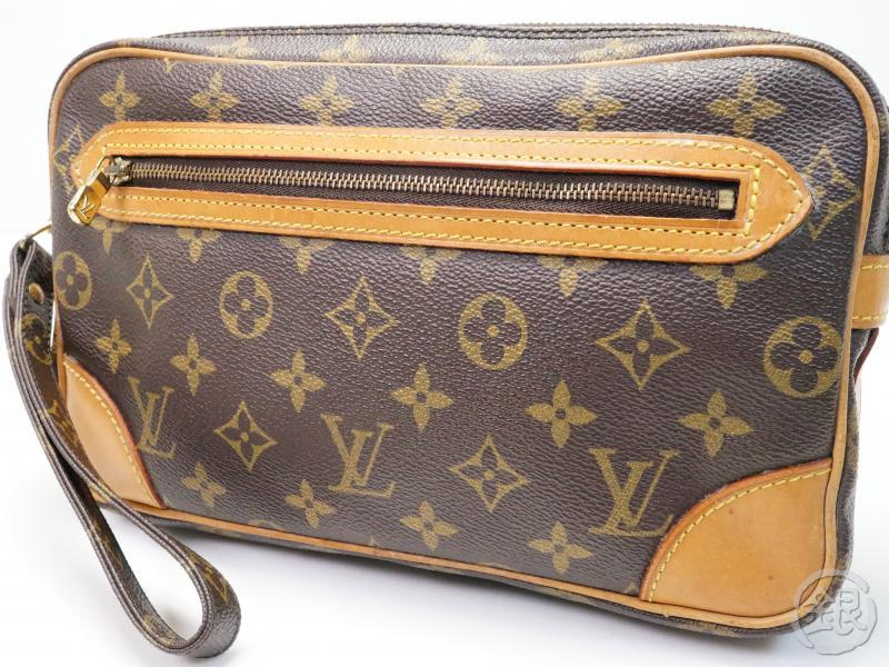 1de1ec57ccef AUTHENTIC PRE-OWNED LOUIS VUITTON MONOGRAM POCHETTE MARLY DRAGONNE GM CLUTCH  BAG PURSE M51825