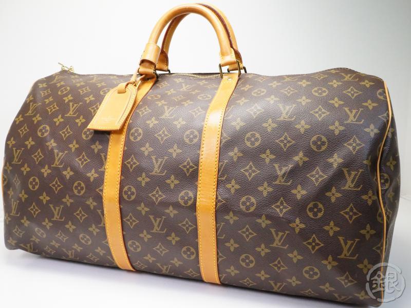 d1f62167c2a0 ... Large Traveling Duffle Bag M41424 Authentic Pre Owned Louis Vuitton Lv  Vintage Monogram Keepall 55