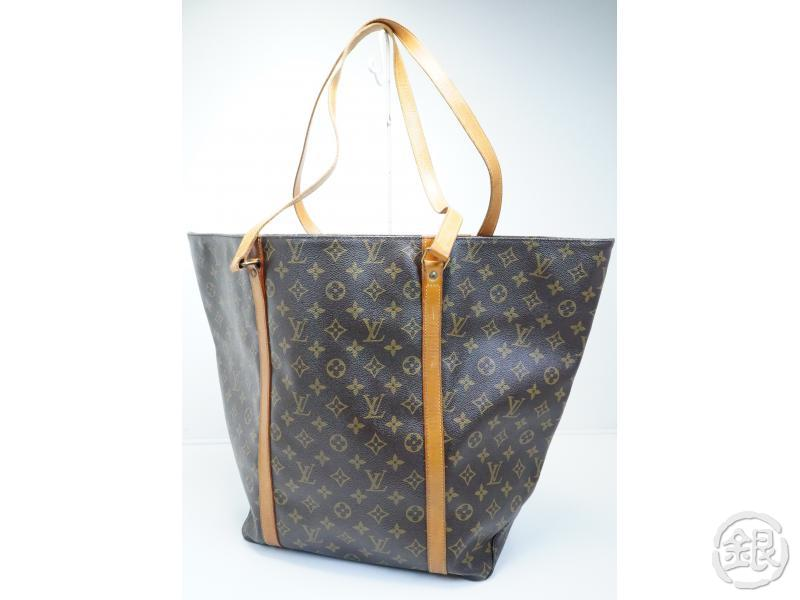 188bb54620ad6 AUTHENTIC PRE-OWNED LOUIS VUITTON VINTAGE MONOGRAM SAC SHOPPING 60 GM LARGE  SHOULDER TOTE BAG M51110.   TOP