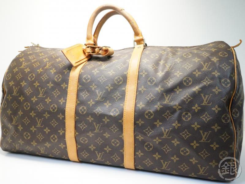 AUTHENTIC PRE-OWNED LOUIS VUITTON LV VINTAGE MONOGRAM KEEPALL 60 LARGE  TRAVELING DUFFLE BAG M41422 be7bb715c9985