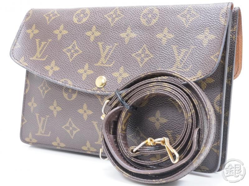 d9d58c08b945 AUTHENTIC PRE-OWNED LOUIS VUITTON MONOGRAM VINTAGE POCHETTE DOUBLE RABAT  SHOULDER CLUTCH BAG 2-Way M51815 No.236