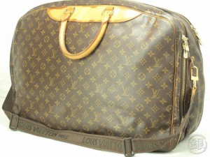 9a0bfc54331 AUTHENTIC PRE-OWNED LOUIS VUITTON MONOGRAM ALIZE 2 POCHES LARGE TRAVEL BAG w   STRAP M41392 130310