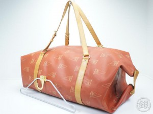 585e09a1b16 AUTHENTIC PRE-OWNED LOUIS VUITTON VUITTON CUP RED KABUL GARMENT LARGE  TRAVEL BOSTON BAG M80020 142572